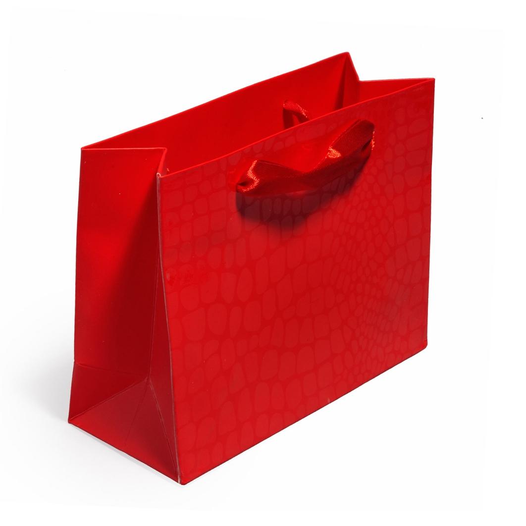 Malá dárková taška červená
