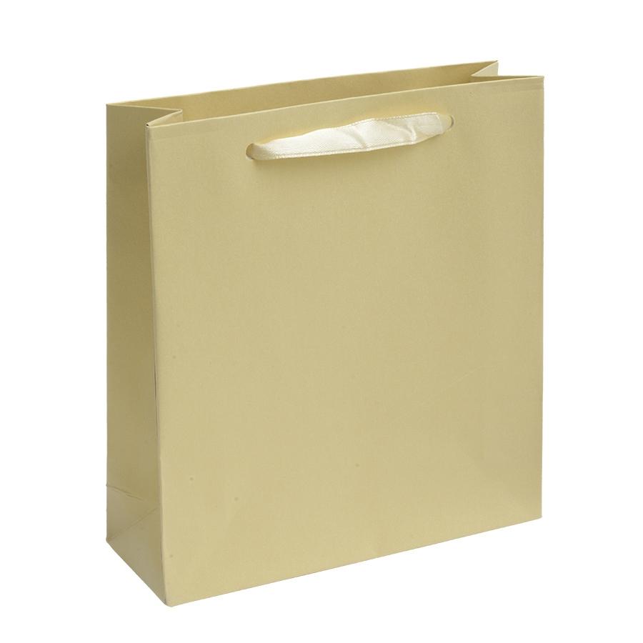 Malá dárková taška perleťově žlutá