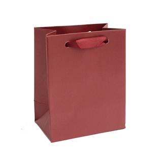 Mini dárková taška perleťově červená