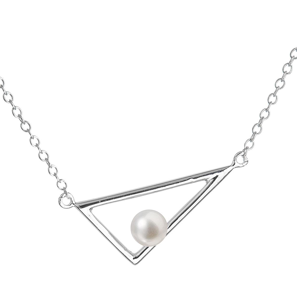 Perlový náhrdelník z pravých riečnych perál biely