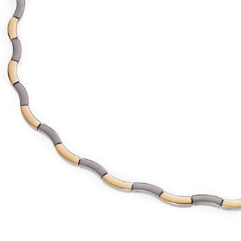 Titanový náhrdelník zlacený 0844-02