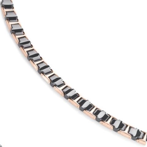 Titanový náhrdelník s černou keramikou 0867-04