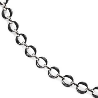 Titanový náhrdelník s černou keramikou 0868-02