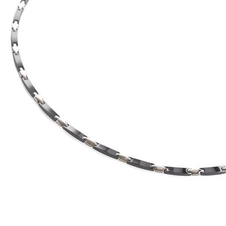 Titanový náhrdelník s černou keramikou 0869-02