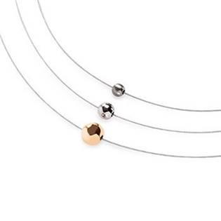 Titanový náhrdelník s korálky 0872-01