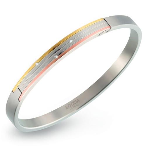 Titánový otvárací náramok s diamantmi BOCCIA® 03005-03