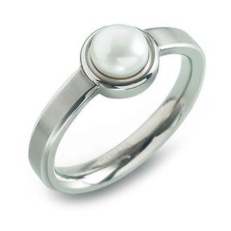 BOCCIA® titánový prsteň s perlou 0137-01
