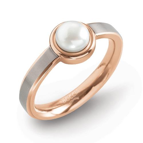 BOCCIA® pozlátený prsteň s perlou 0137-02