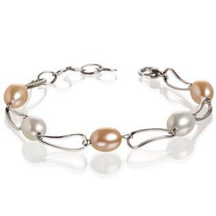 Titanový náramek s perličkami 0382-01