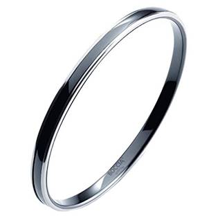 Titanový náramek kruh s černou keramikou 0391-0260