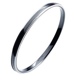 Titanový náramek kruh s černou keramikou 0391-0267