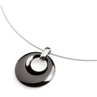 Titanový přívěšek s černou keramikou 0783-02
