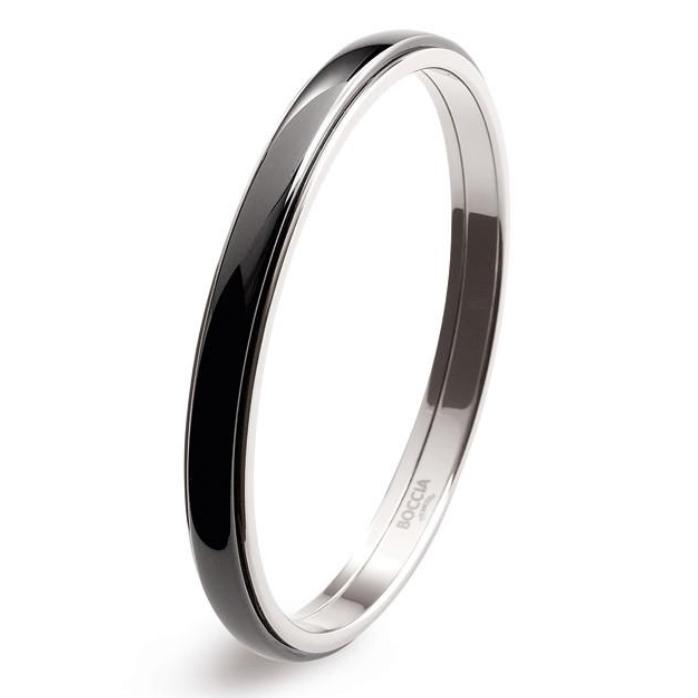 Titanový náramek kruh s černou keramikou 0390-0260