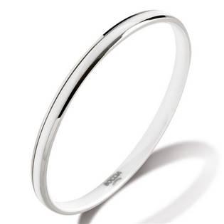 Titanový náramek kruh s bílou keramikou 0391-0167
