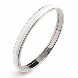 BOCCIA® Titanový náramek kruh s bílou keramikou 0390-0167