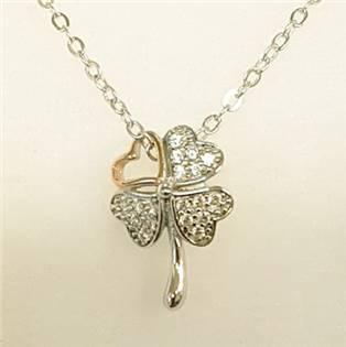 Stříbrný náhrdelník se čtyřlístkem