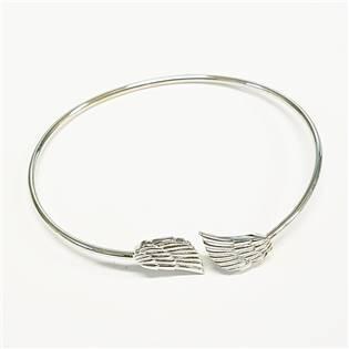 Stříbrný náramek se andělskými křídly ZB86590