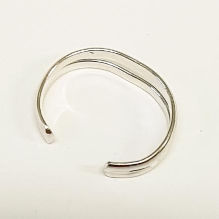 Stříbrný prstýnek na nohu dvojitý
