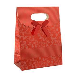 Šperky4U Dárková taška s mašlí červená - KR1011-R