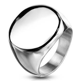 Kruhový pečetní ocelový prsten
