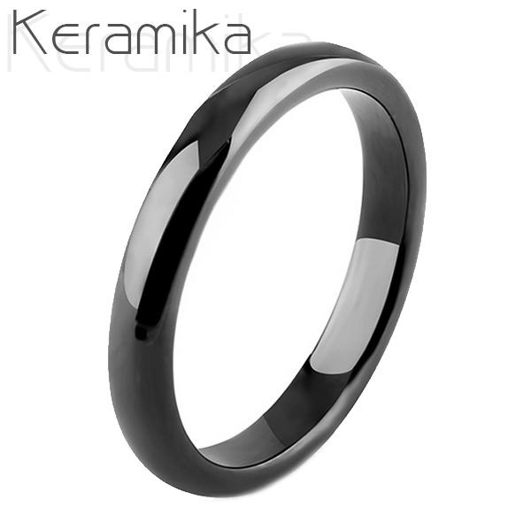 Keramický prsteň čierny, šírka 3 mm, veľ. 52
