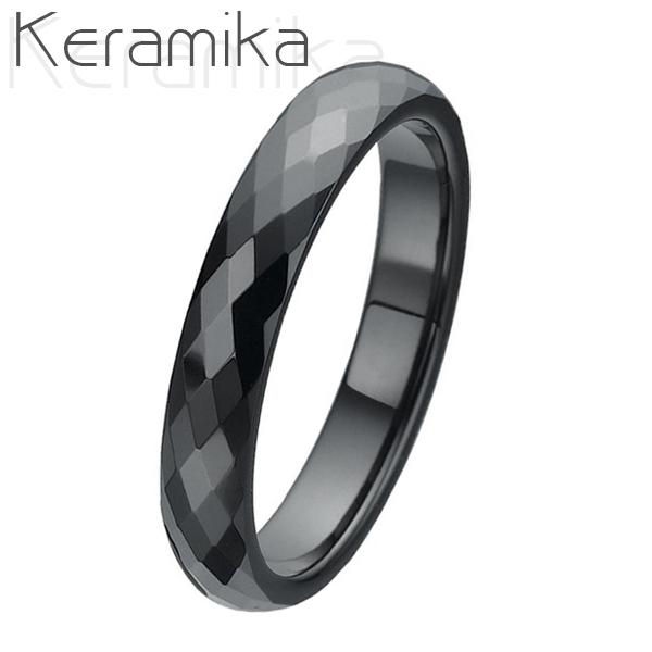 Keramický prsteň čierny, šírka 4 mm