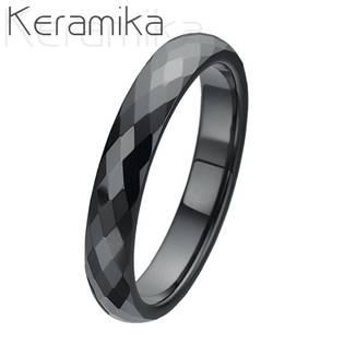 KM1002-4 Dámský keramický snubní prsten, šíře 4 mm