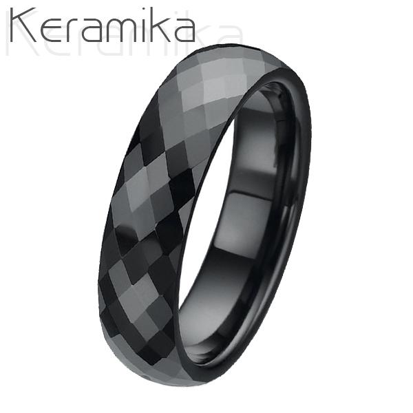 Pánský keramický snubní prsten, šíře 6 mm