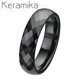 Keramický snubní prsten šíře 6mm KM1002