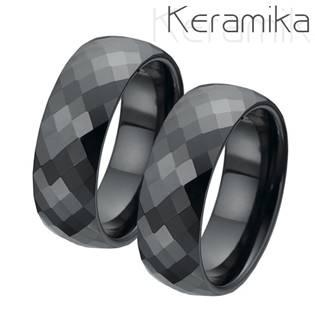 Keramický snubní prsten šíře 8 mm KM1002