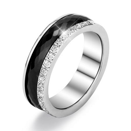 Keramický prsten černý, šíře 6 mm, vel. 52