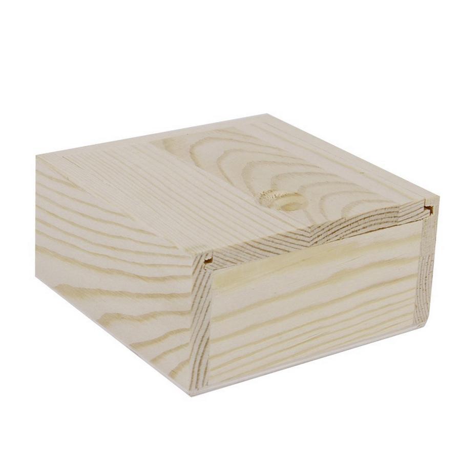 Drevená krabička s posuvným vekom