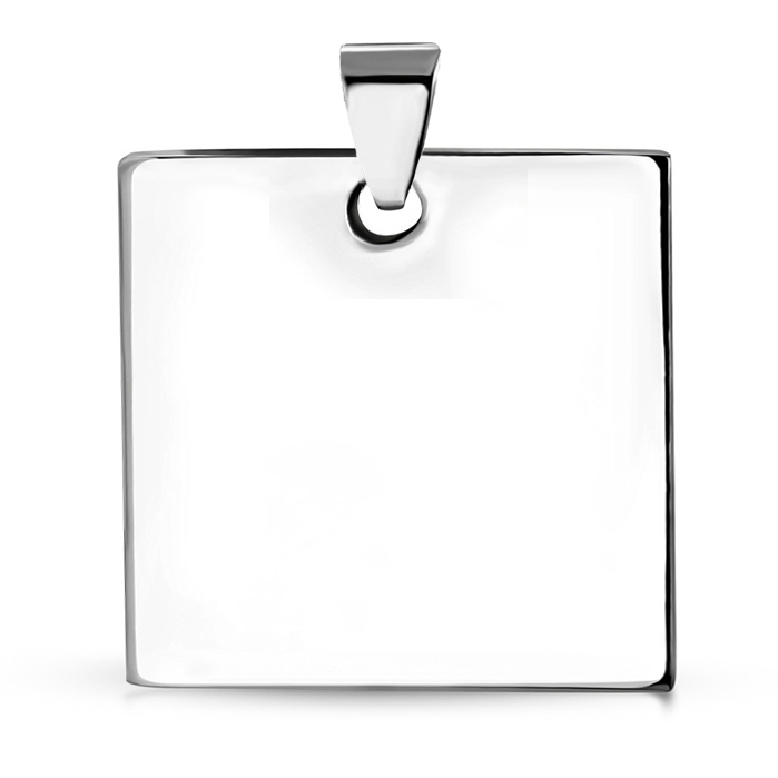 Ocelový přívěšek destička 30 x 30 mm