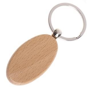 Dřevěný přívěšek na klíče - ovál