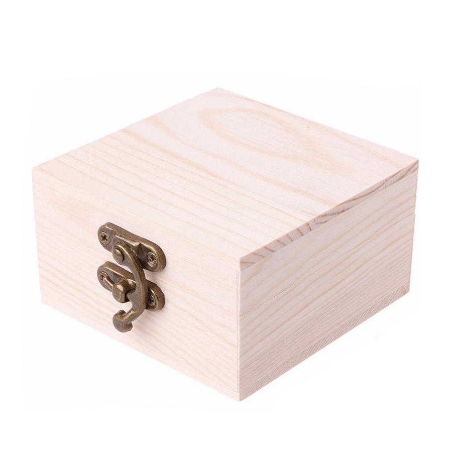 Drevená krabička svetlá