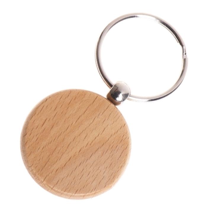 Drevený prívesok na kľúče - krúžok