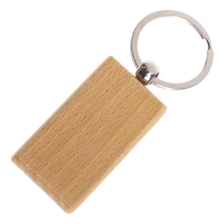 Drevený prívesok na kľúče - obdĺžnik