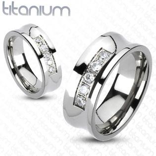 Titánový prsteň šírka 8 mm