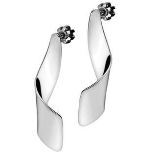 Šperky4U Visací stříbrné náušnice kroucené - ZB23186