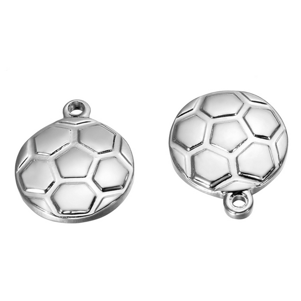 Drobný ocelový přívěšek - fotbalový míč