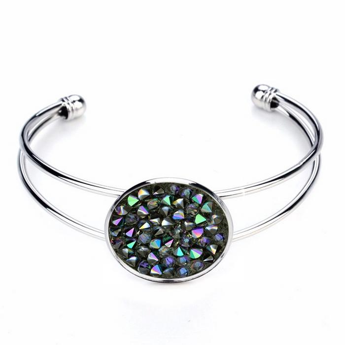 Náramok s kryštálmi Crystals from Swarovski ® PARADISE SHINE