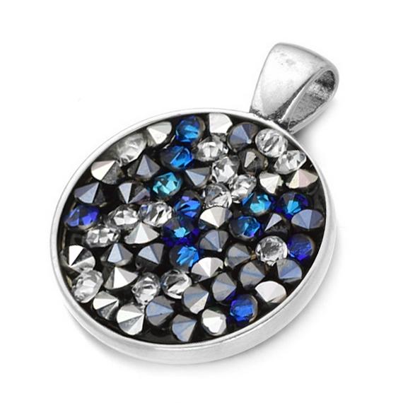 Přívěšek s krystaly Crystals from Swarovski® BLUE PEPPER