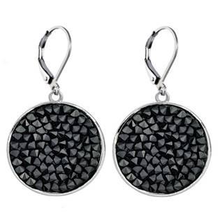 Náušnice s krystaly Crystals from Swarovski® BLACK JET