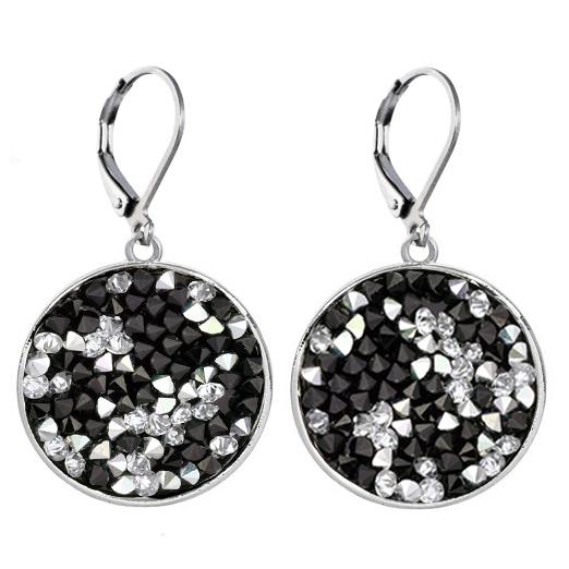 Náušnice s krystaly Crystals from Swarovski® PEPPER