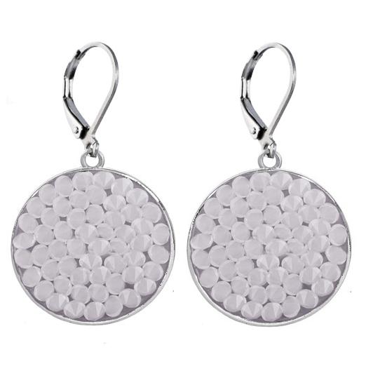 Náušnice s krystaly Crystals from Swarovski® WHITE OPAL