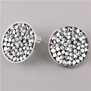Puzetové nušnice s krystaly Crystals from Swarovski® 20 mm , CRYSTAL CAL