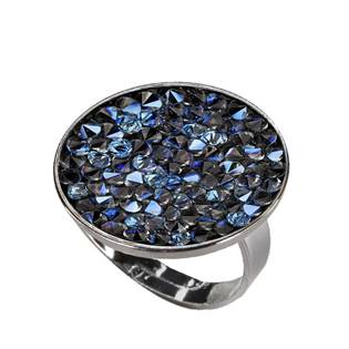 Prsten s krystaly Crystals from Swarovski® BLUELIZED