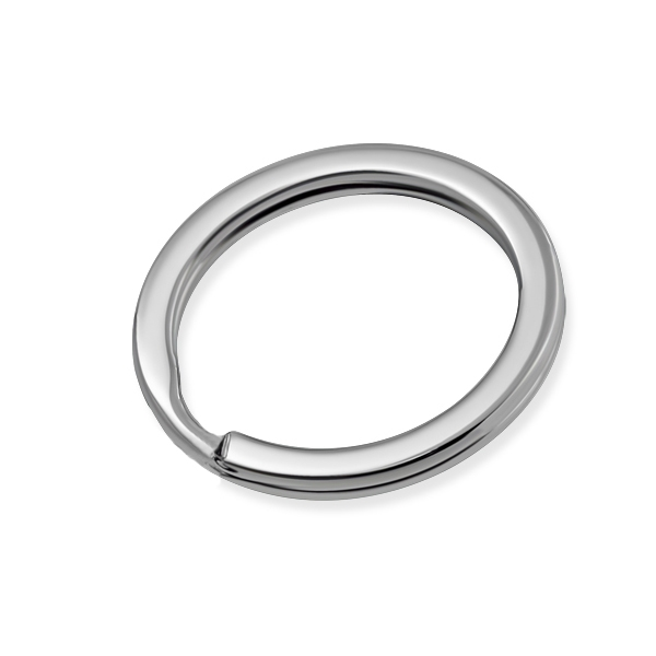 Ocelový kroužek na klíče, pr. 25 mm