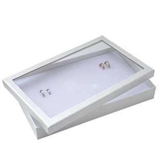 Šperky4U Plato na snubní prsteny s víkem bílé - VP1074-WH