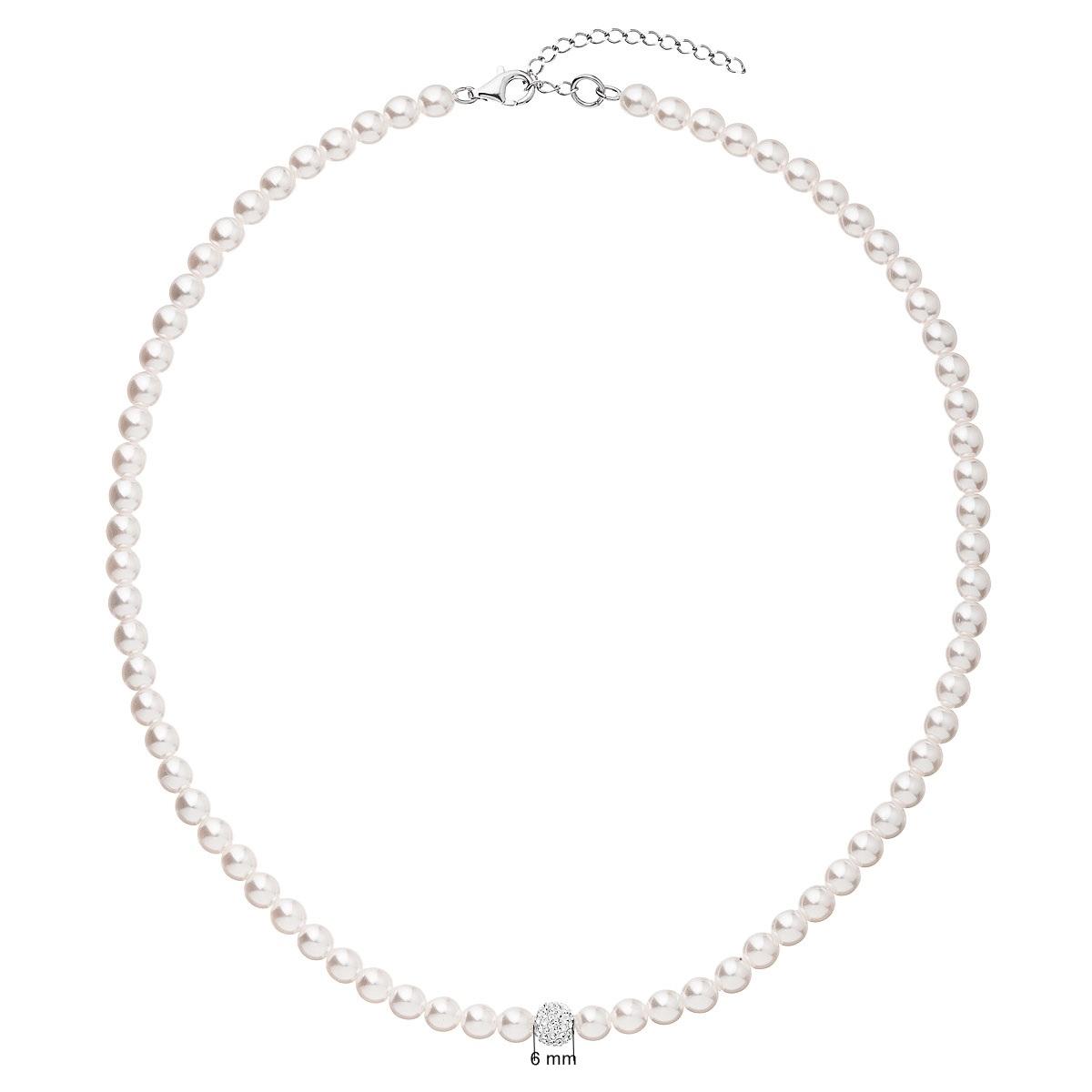 Perlový náhrdelník bílý EG4226